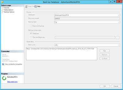 Использование Azure для бэкапа и восстановления SQL Server фото №8