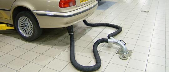 Катушки и шланги для вытяжки выхлопных газов легковых и грузовых авто