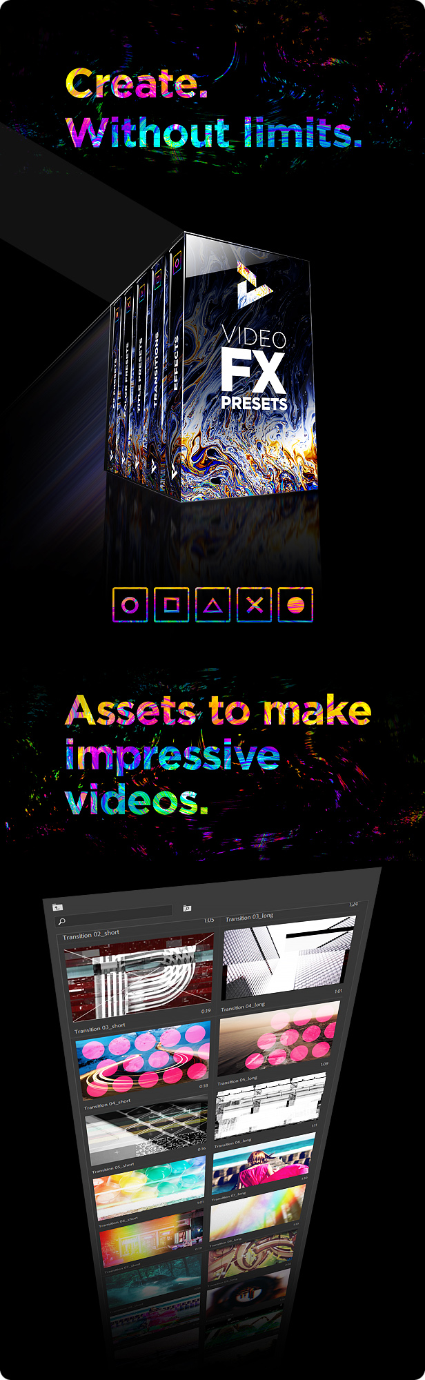 Presets Pack for Premiere Pro: Effects, Transitions, Titles, LUTS, Duotones, Sounds - 27