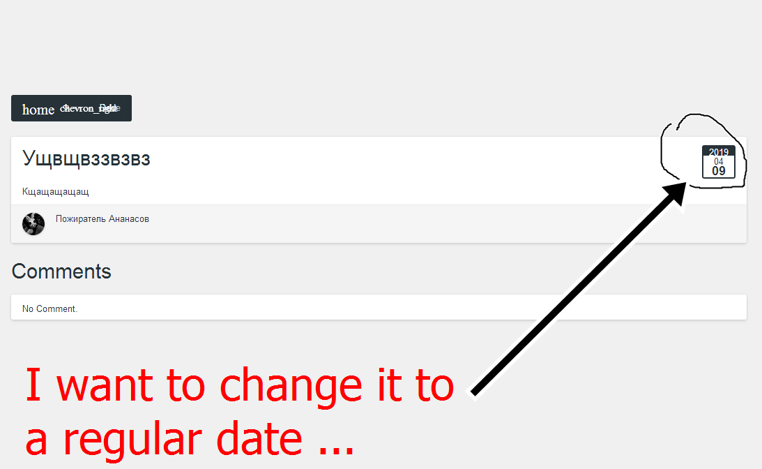 How to change the date of the blogs? Fe61f0c66049b8301c3bb171d9a9e36d