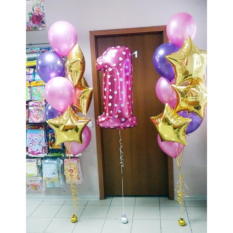 Воздушные шарики на годик