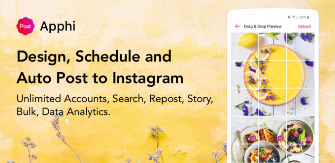 Apphi - Schedule Posts for Instagram - 3.5 Pro (Android)