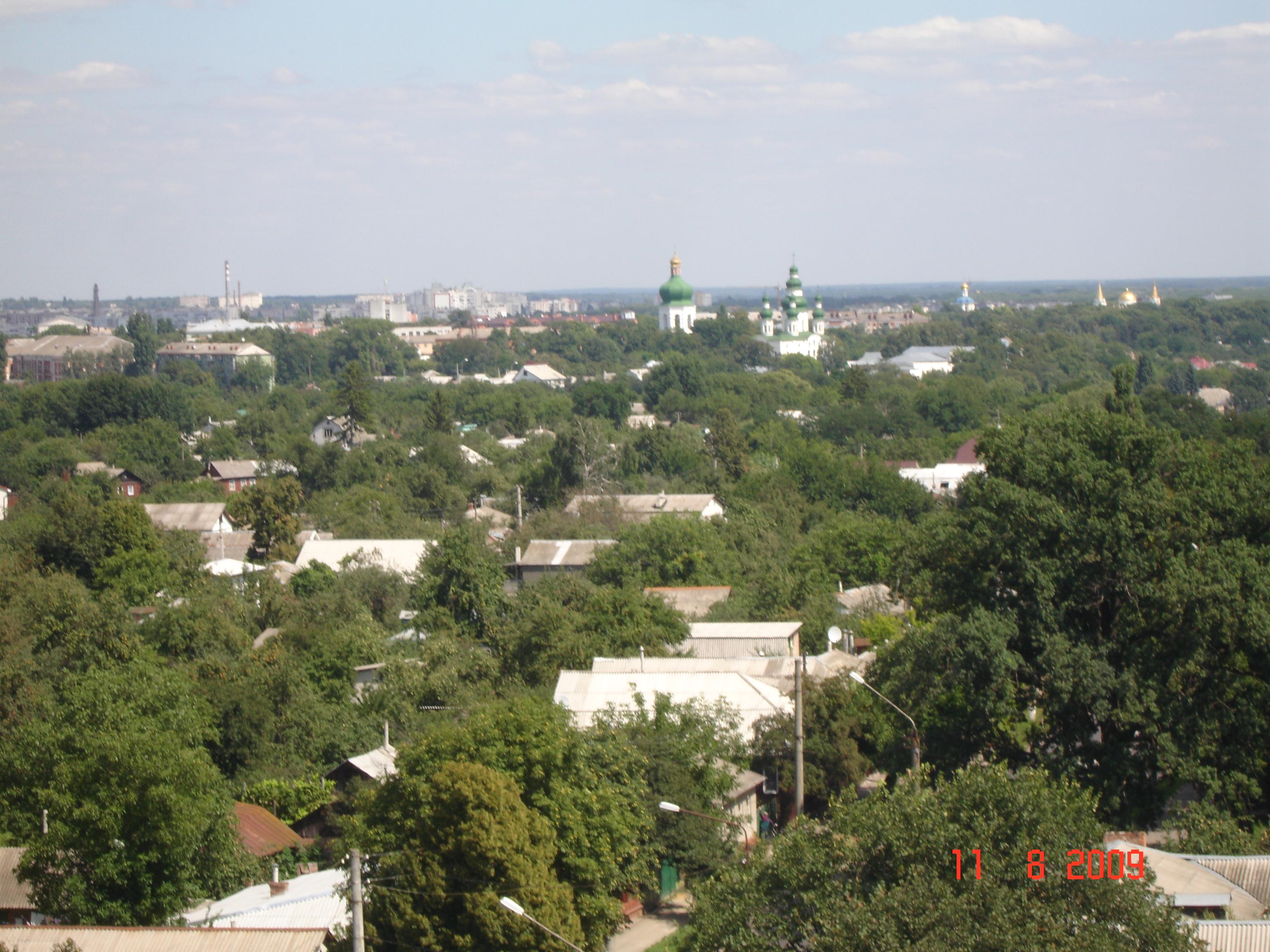 Панорама історичного середмістя Чернігова.