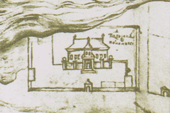 Палац Полуботка на малюнку з «Абрису Чернігівського» (1706)