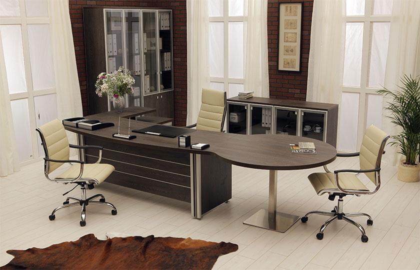 Функциональный и стильный - кабинет ответственного руководителя!