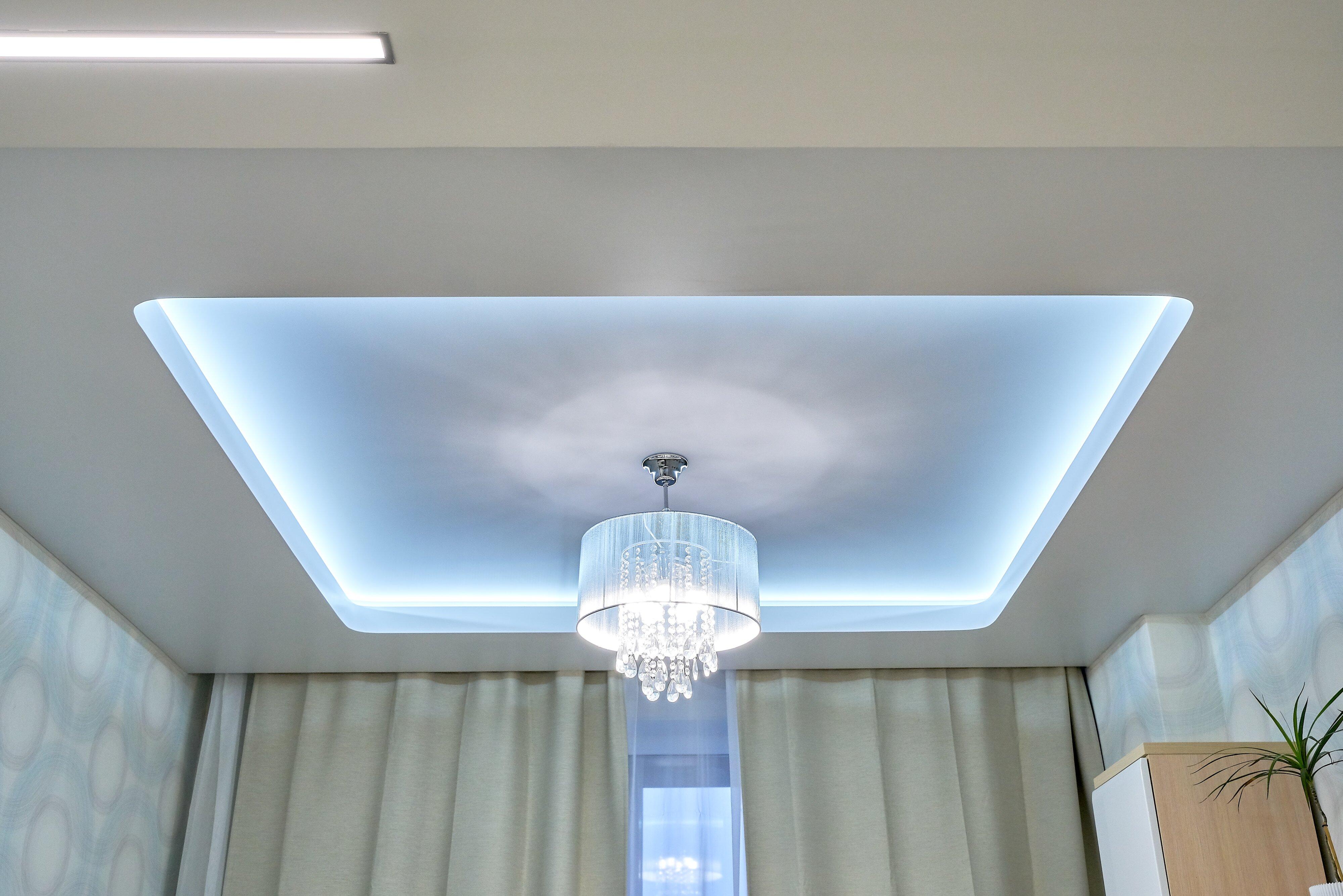 LED подсветка на потолок фото
