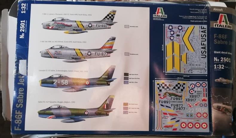 North American F-86F Sabre Jet. Italeri 1/32 601ffe8f270f50e990cde37354a3d193