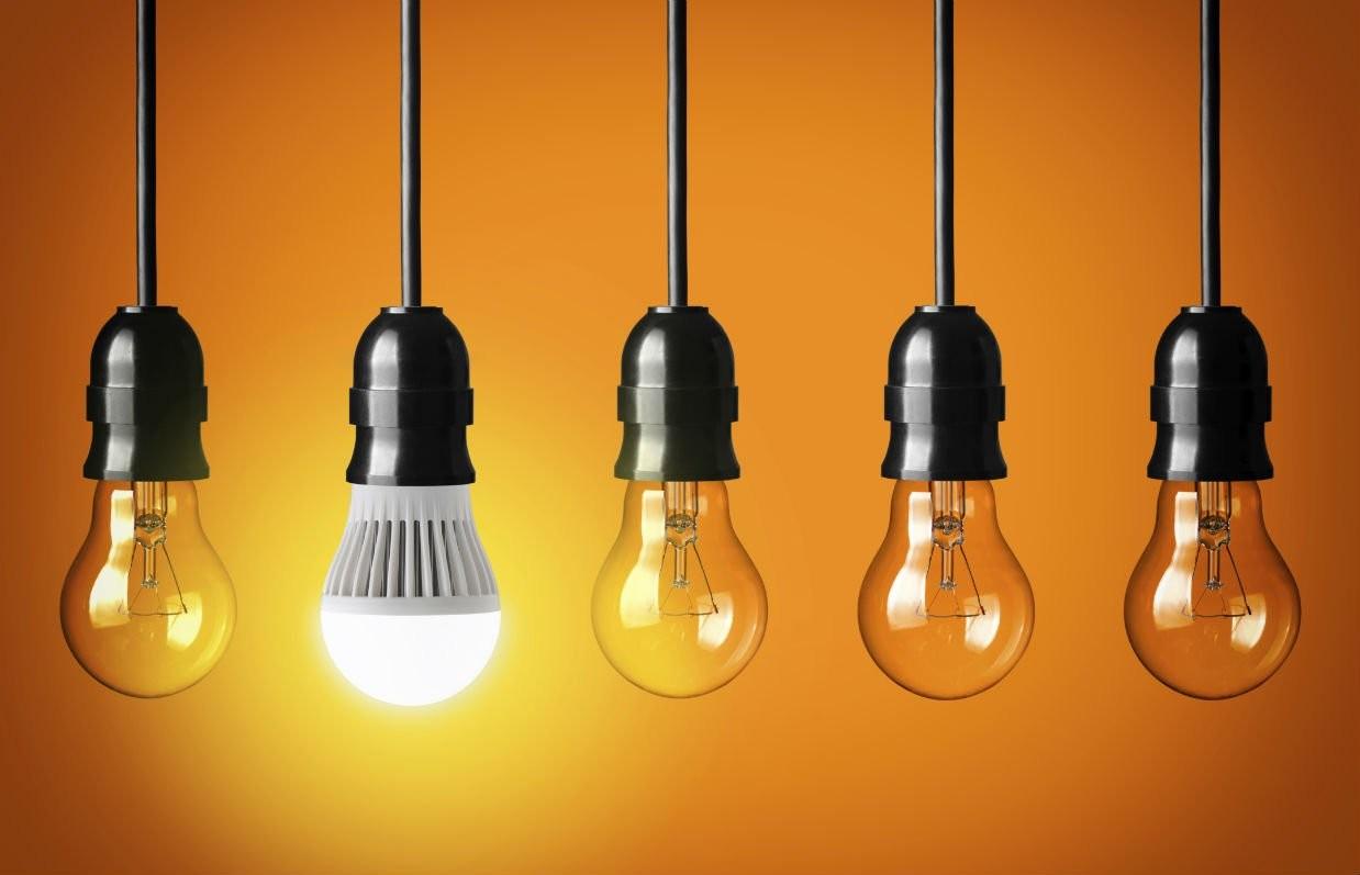 Лед лампы экономия энергии фото