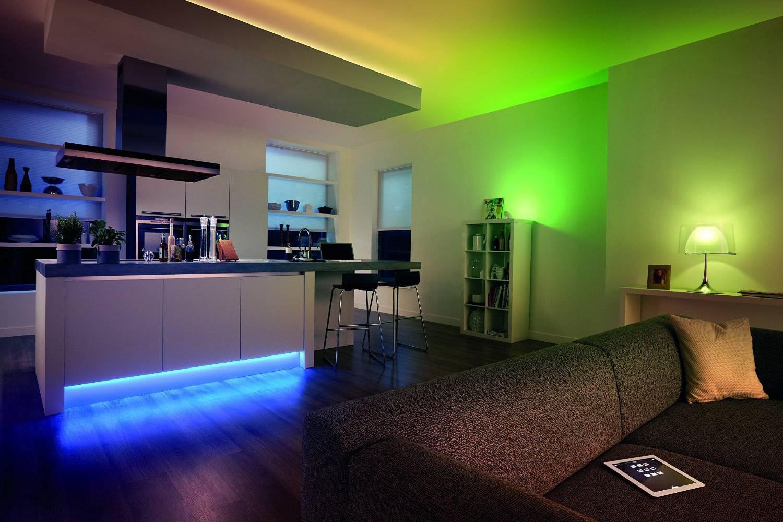 Подсветка светодиодной лентой интерьера фото