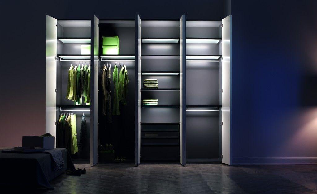 Полки шкафов подсветка фото