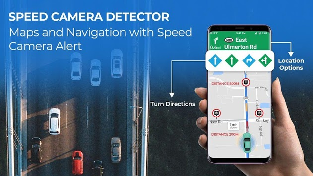 Radarbot Pro: Speed Camera Detector & Speedometer 7.0.5 [Android]