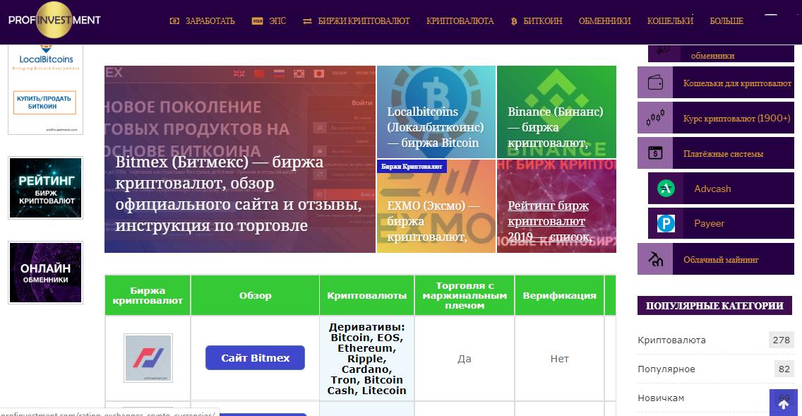 сайт profinvestment.com