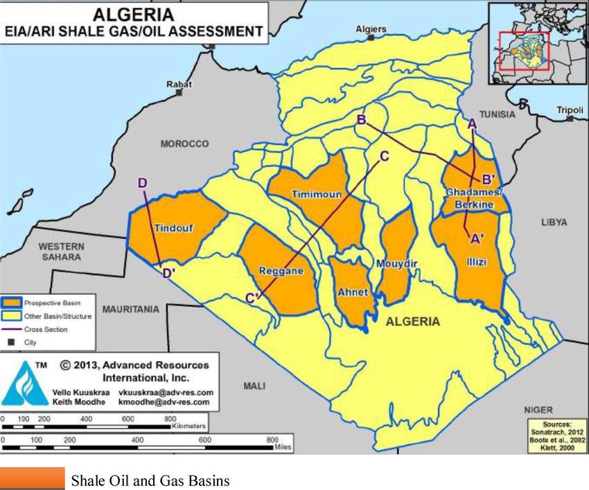 Ресурсы сланцев Алжира - страшно аж жуть