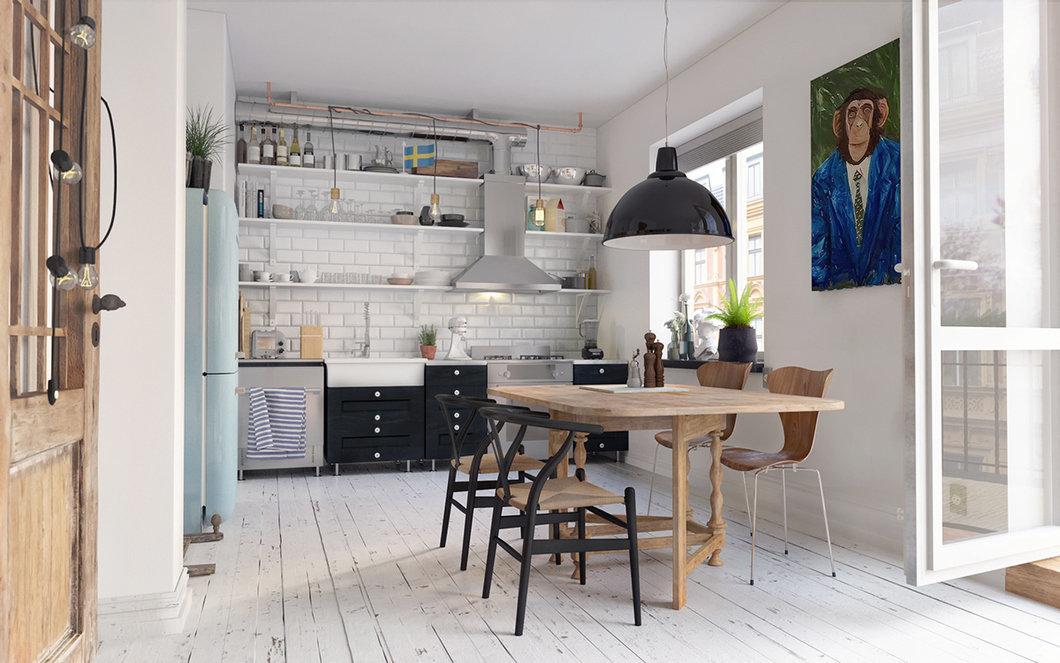 Кухня с скандинавском дизайне
