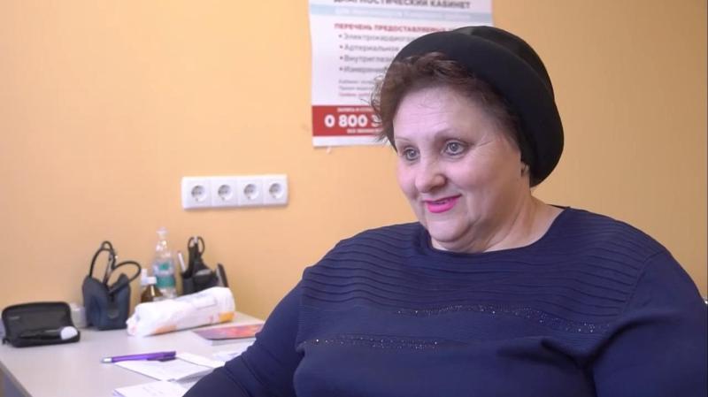Любовь Масколец регулярно проходит обследование в одном из диагностических кабинетов ФК «Здоровье».jpg