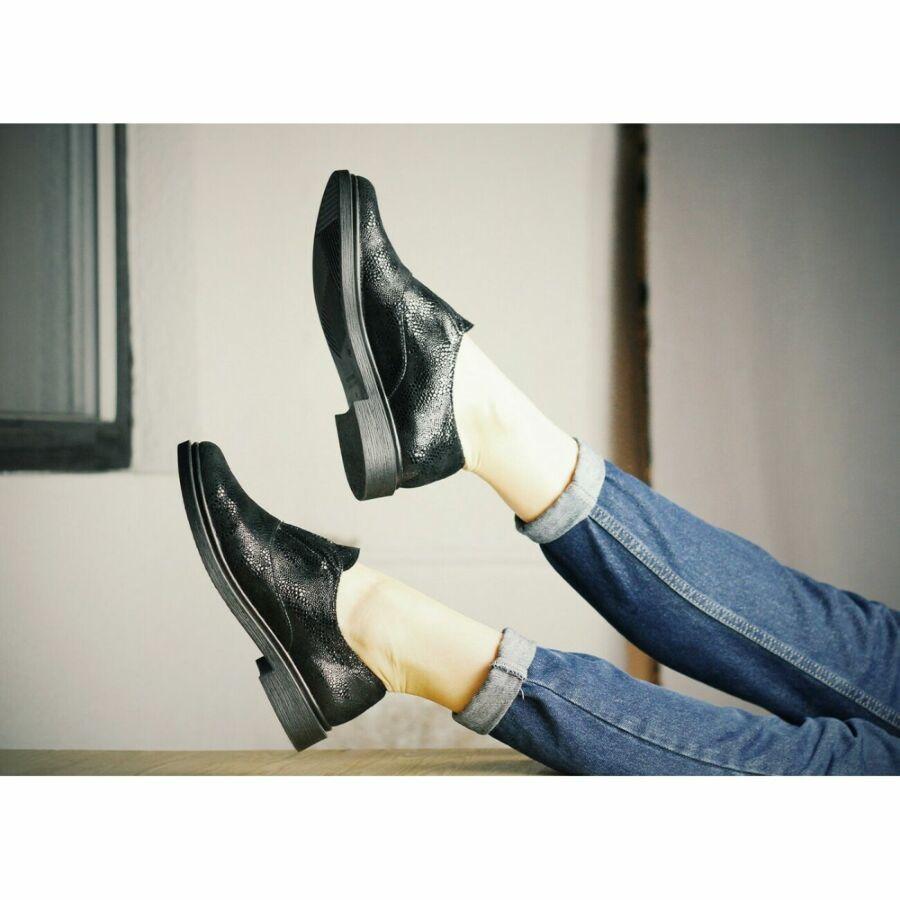 туфли женские на низком ходу кожаные
