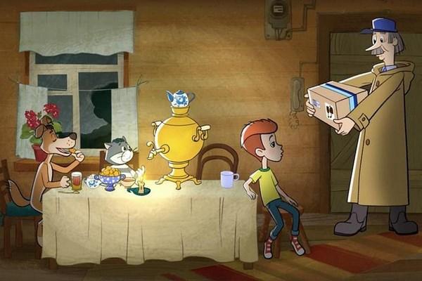 На фото почтальон Печкин из мультфильма Трое из Простоквашино