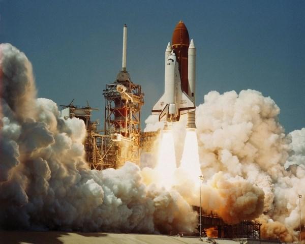 На фото космическая ракета