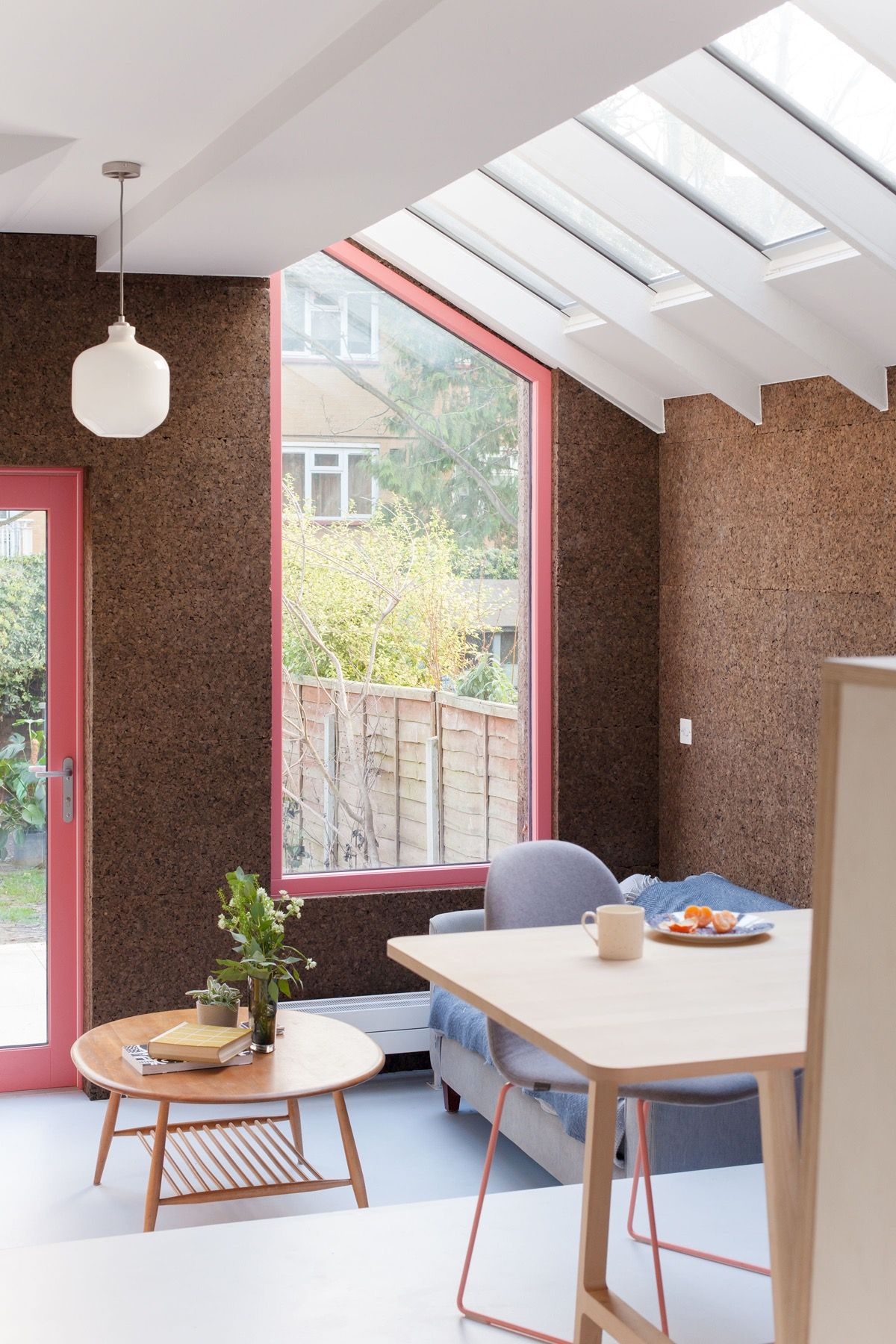 nimtim architects used naturally stained cork for extension of Victorian terrace house in London - Apartmentlovin'.jpeg