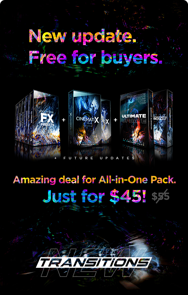 Presets Pack for Premiere Pro: Effects, Transitions, Titles, LUTS, Duotones, Sounds - 5