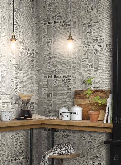 The Daily Wallpaper in Soft Grey and Black from the Magnolia Home Coll.jpeg
