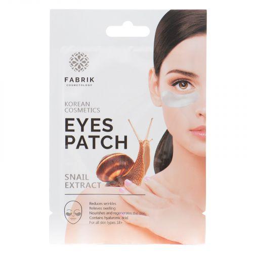 Гидрогелевые патчи для области вокруг глаз с экстрактом улитки Fabrik Cosmetology
