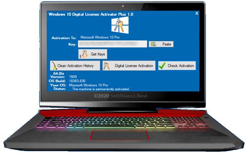 Windows 10 Digital License Activator Plus 1.0