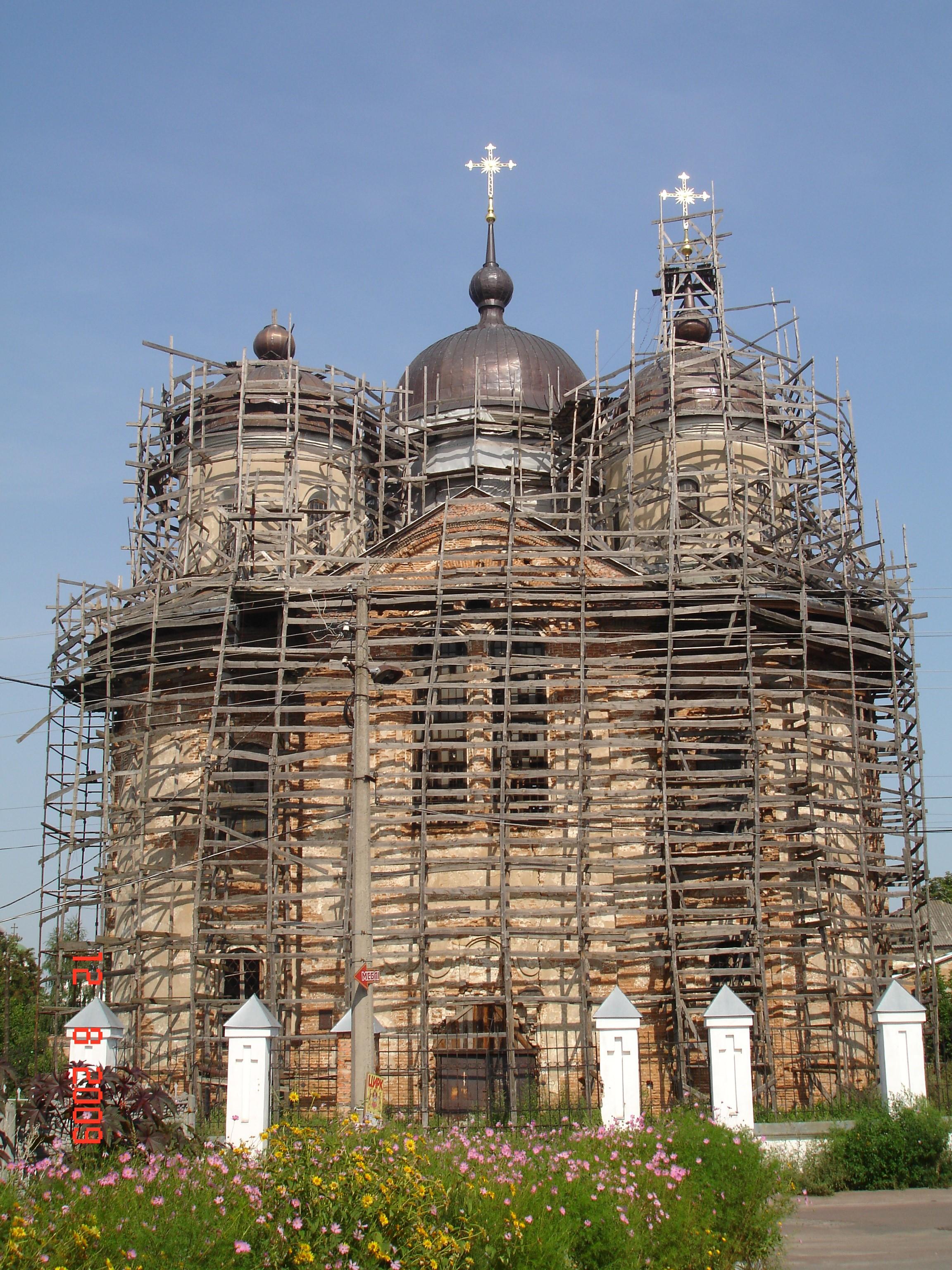 Благовіщенський собор під час реставрації
