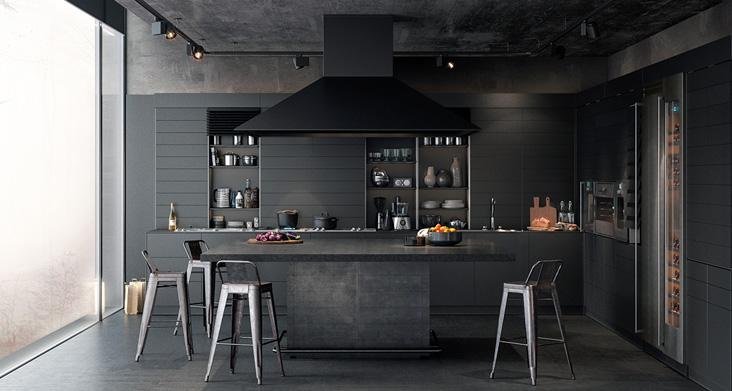 идеи для кухни лофт фото