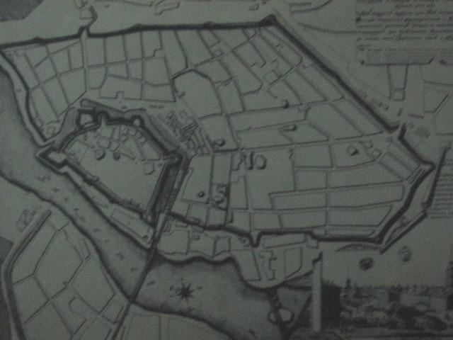 Карта Ніжинської фортеці 1773 року.