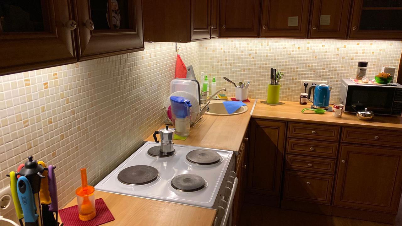 подсветка для кухни под шкафы светодиодная фото
