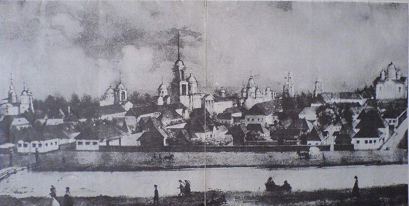 Ніжин: старе місто. Малюнок П.Бореля
