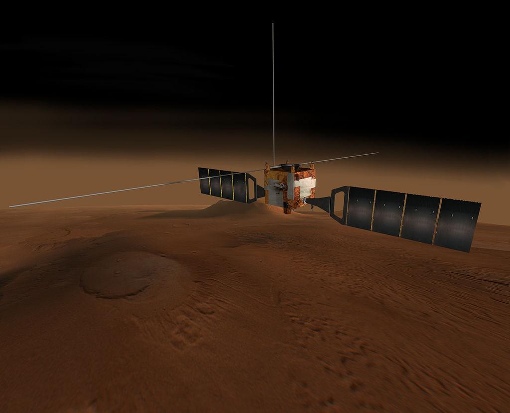 Ілюстрація космічного корабля Mars Express ESA