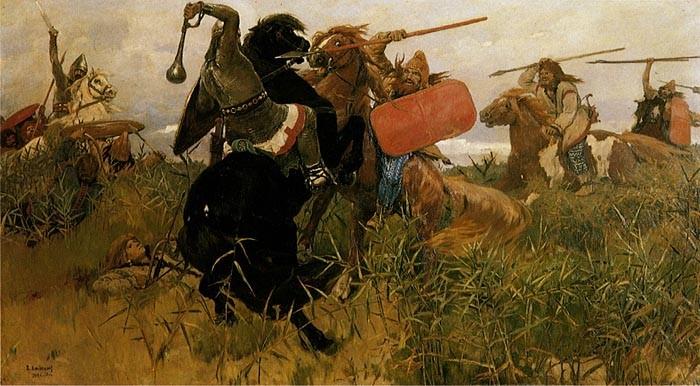 Віктор Васнецов (1881). «Бій слов'ян зі скіфами».