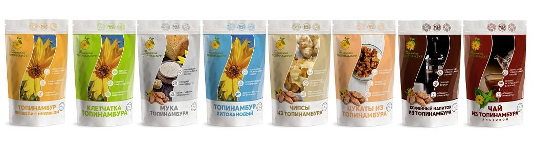 Диабетические и диетические продукты из топинамбура