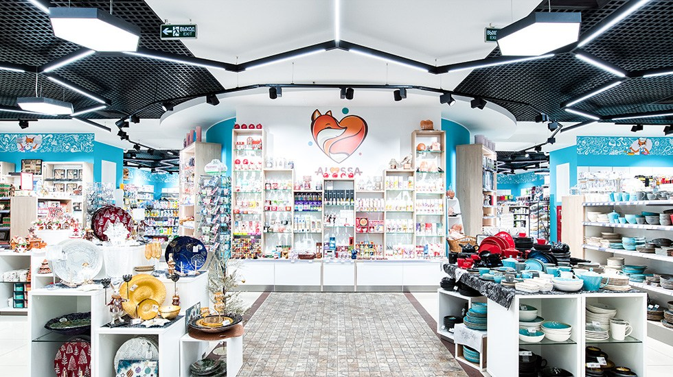 Пример проекта освещения магазина ALYSSA