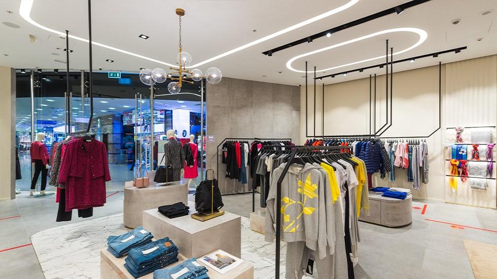 пример освещение торгового зала