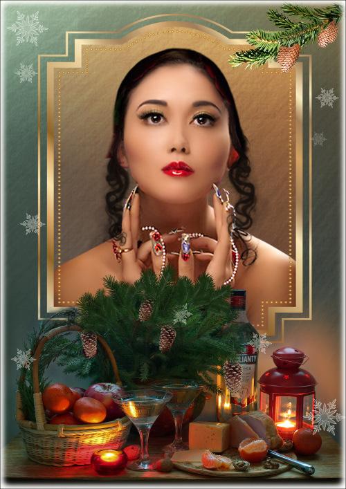 Рамка для фотошопа - Зимний натюрморт 4