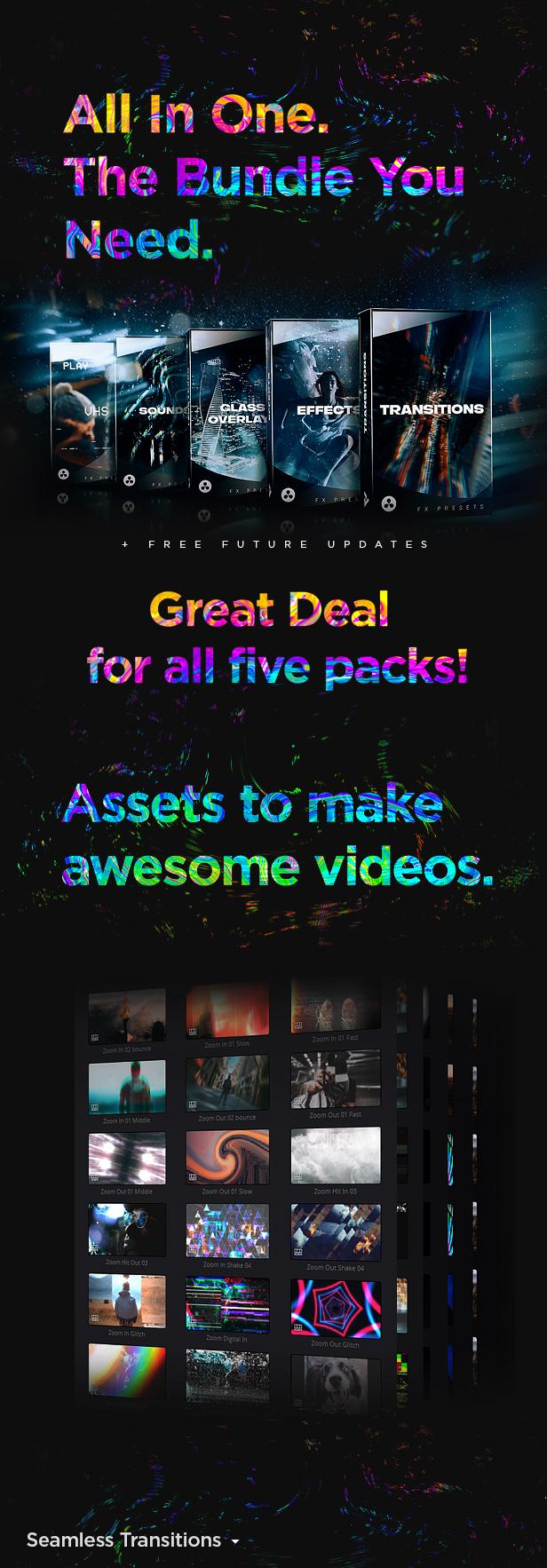 FX Presets Bundle for DaVinci Resolve   Transitions, Effects, VHS, SFX - 8