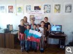 Объёмный флаг из ладошек. Детская библиотека.jpg